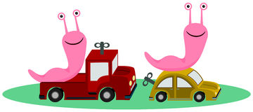 Slugs toys Royalty Free Stock Images