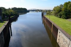 Sluice. In germany  for inland waterways Stock Photography
