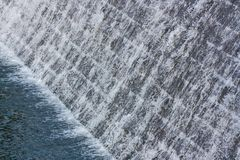 Sluice. View of weir with rapids Royalty Free Stock Photography