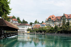 Sluice bridge in Thun Stock Photo