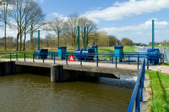 Sluice in canal Stock Photography