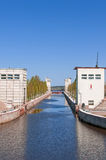 Sluice of the channel Volga-Don Lenin's name Stock Photo