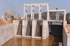 Sluice dam Stock Photos