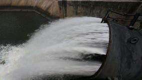 Sluice dam stock video footage