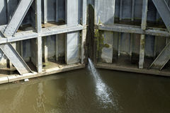Sluice gate Stock Photo