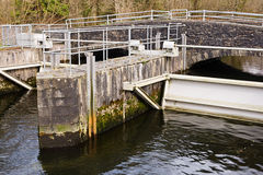 Sluice gate Royalty Free Stock Photos