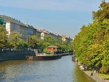 Sluice gate on Vltava River Royalty Free Stock Photo