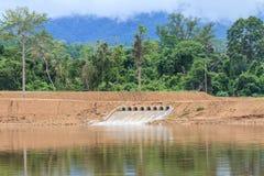 Sluice gates of a dam Stock Photo