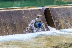 Sluice gates of a dam Stock Images