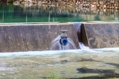 Sluice gates of a dam Royalty Free Stock Photo