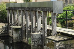 Sluice gates Royalty Free Stock Image