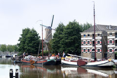 Sluice in Gouda Royalty Free Stock Photography