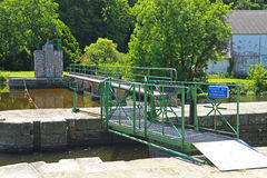 Sluice, Nantes-Brest canal, France Stock Photography