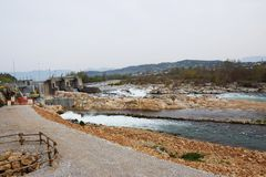 Sluice in north Italy Royalty Free Stock Photo