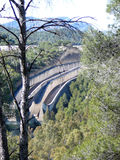 Sluice overflow at Ardales reservoir near El Chorro, Andalucia Stock Photo
