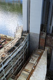 Sluice reconstruction Stock Photography