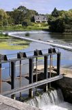 Sluice on the sarthe river in France Royalty Free Stock Image