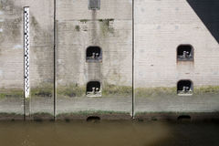 Sluice wall Royalty Free Stock Photo