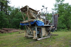 Sluicebox used for mining gold in the yukon territories. Stock Image
