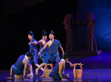 """Sluicing down the deck-Dance drama """"The Dream of Maritime Silk Road"""" Royalty Free Stock Photo"""