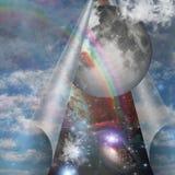 Sluier van hemel vector illustratie