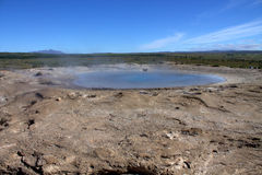 Sluimerende Geysir in IJsland Stock Foto