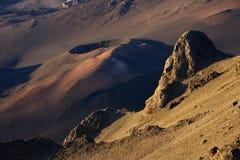 Sluimerende vulkaan in Haleakala Royalty-vrije Stock Afbeeldingen