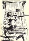 Sluipschutter vector illustratie