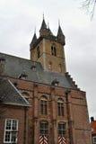 Sluis belfry Royalty Free Stock Images
