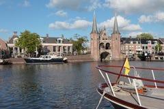 Sluisdeur in Sneek, Nederland Stock Foto's