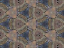 Sluit achtergrond van de het patroontextuur van de caleidoscoopkunst omhoog de abstracte Royalty-vrije Stock Foto
