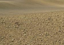 Sluit bekijken Bruin Gebiedslandschap van Landbouw Geploegd Grondvuil stock foto's