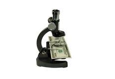 Sluit bekijken geld Stock Afbeelding