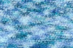Sluit breien omhoog wollen stoffentextuur stock afbeelding