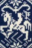 Sluit breien omhoog wollen textuur Stock Afbeelding