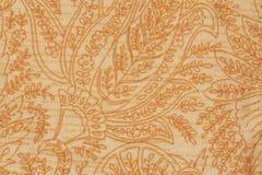 Sluit de textuur Decoratieve stof, omhoog detail Stock Afbeeldingen