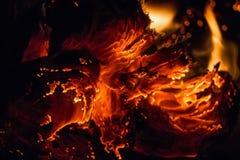 Sluit document omhoog het branden in vlam Stock Fotografie