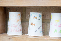 Sluit Document omhoog Koffiekop Stock Foto