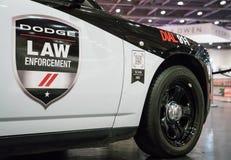 Sluit Dodge-omhoog de Handhaving van de Laderssrt Wet stock afbeelding