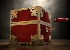 Sluit hefboom-in-de-Doos Antiquiteit royalty-vrije illustratie