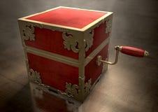 Sluit hefboom-in-de-Doos Antiquiteit stock afbeelding