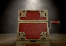 Sluit hefboom-in-de-Doos Antiquiteit stock foto's