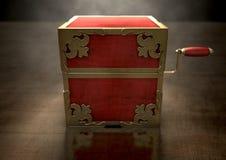 Sluit hefboom-in-de-Doos Antiquiteit stock afbeeldingen