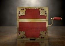Sluit hefboom-in-de-Doos Antiquiteit royalty-vrije stock fotografie