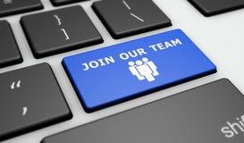 Sluit me aan bij Ons Team Online Recruitment Concept Stock Afbeeldingen