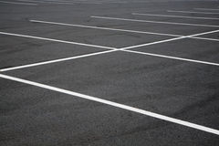 Sluit nadruk op parkeerplaatsen stock afbeeldingen