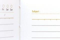 Sluit notrbook document omhoog textuur Royalty-vrije Stock Afbeelding