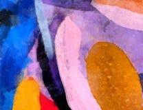 Sluit olieverf omhoog abstracte achtergrond Kunst geweven penseelstreek stock illustratie