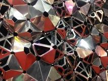 Sluit omhoog abstracte bijenbijenkorf, hexagon achtergrond Stock Foto