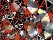 Sluit omhoog abstracte bijenbijenkorf, hexagon achtergrond Stock Afbeelding